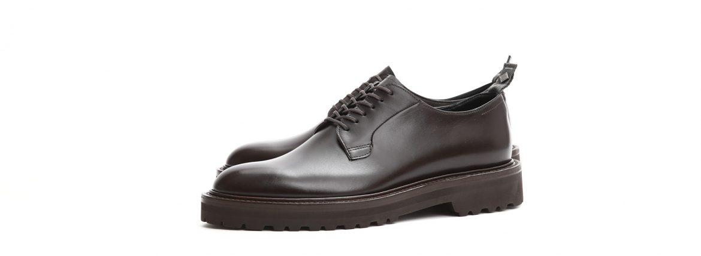【WH / ダブルエイチ】 【WH-0001(WHS-0001)】 Plane Toe Shoes (干場氏 スペシャル モデル) Cruise Last (クルーズラスト) ANNONAY Vocalou Calf Leather プレーントゥシューズ DARK BROWN (ダークブラウン) MADE IN JAPAN(日本製) 2018 春夏新作   【干場氏、坪内氏の直筆サイン入り】【Alto e Diritto限定 スペシャルアイテム】のイメージ