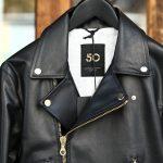 CINQUANTA (チンクアンタ) H508 W RIDERS SL CAVALLO (ダブルライダース ジャケット SL) ホースレザー ライダース ジャケット BLACK GOLD (ブラックゴールド・999) Made in italy (イタリア製) 2018 春夏新作のイメージ
