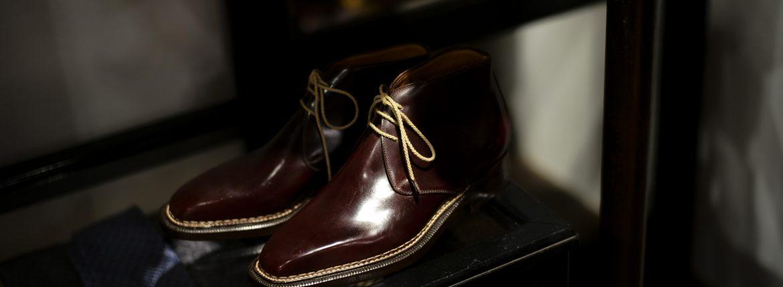 ENZO BONAFE(エンツォボナフェ) ART.3722 Chukka boots チャッカブーツ Horween Shell Cordovan Leather ホーウィン社 シェルコードバンレザー ノルベジェーゼ製法 チャッカブーツ コードバンブーツ No.8(バーガンディー)  made in italy (イタリア製)のイメージ