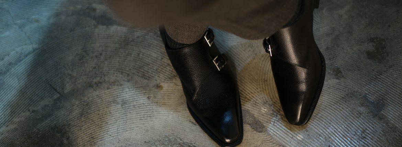 ENZO BONAFE(エンツォボナフェ) EB-36 Double Monk Strap Shoes INCA Leather ダブルモンクストラップシューズ NERO (ブラック) made in italy (イタリア製) 2018 秋冬 【Special Model】【ご予約受付中のイメージ