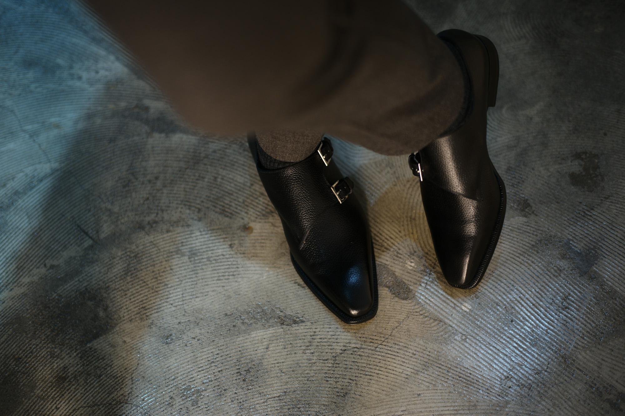 ENZO BONAFE(エンツォボナフェ) EB-36 Double Monk Strap Shoes INCA Leather ダブルモンクストラップシューズ NERO (ブラック) made in italy (イタリア製) 2018 秋冬 【Special Model】 enzobonafe eb36 ダブルモンク 愛知 名古屋 Alto e Diritto アルト エ デリット ダブモン