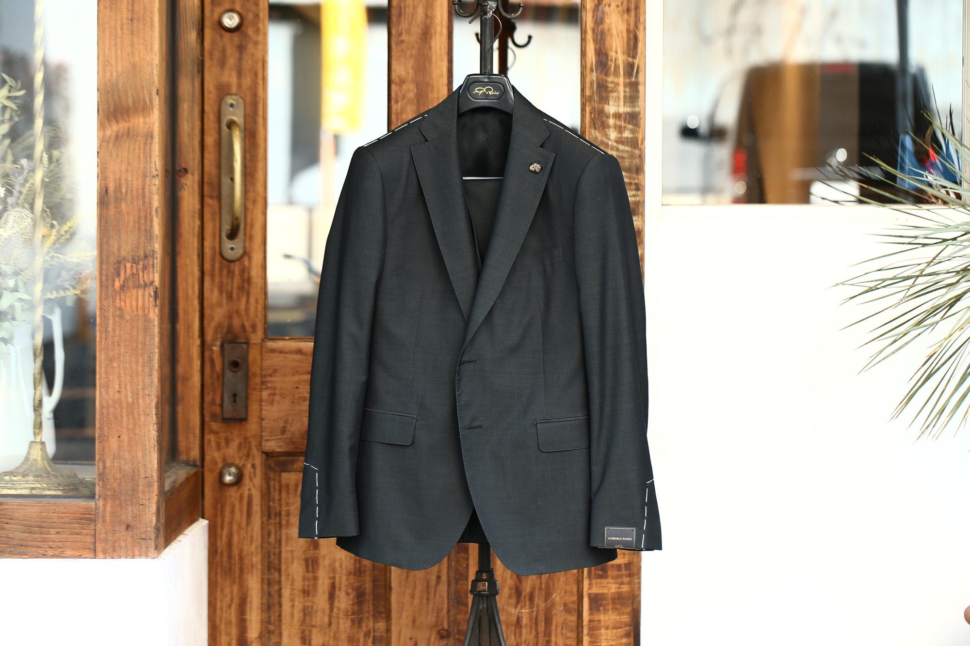 GABRIELE PASINI (ガブリエレ パジーニ) LONDON (ロンドン) サマーコットンウール 3P スーツ BLACK (ブラック・771) 2018 春夏新作 gabrielepasini ガブリエレパジーニ  スーツ 愛知 名古屋 ZODIAC ゾディアック