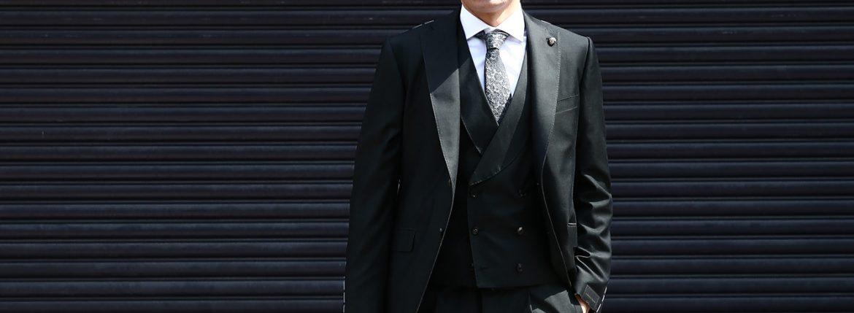 GABRIELE PASINI (ガブリエレ パジーニ) LONDON (ロンドン) サマーコットンウール 3P スーツ BLACK (ブラック・771) 2018 春夏新作のイメージ