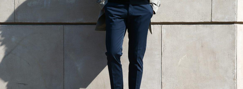 INCOTEX (インコテックス) 1AGW53 LOW RISE CARROT FIT (ローライズ キャロット フィット) ROYAL BATAVIA HIGH COMFORT コットン ストレッチ スラックス NAVY (ネイビー・822)  2018 春夏新作のイメージ