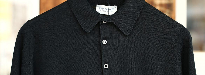 JOHN SMEDLEY (ジョンスメドレー) S3798 Polo Shirt SEA ISLAND COTTON (シーアイランドコットン) ポロシャツ BLACK (ブラック) Made in England (イギリス製) 2018 春夏新作のイメージ