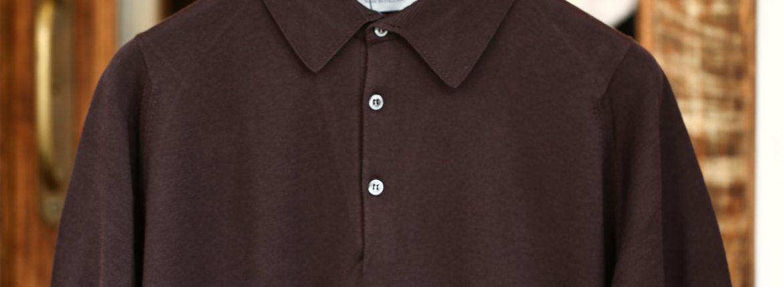 JOHN SMEDLEY (ジョンスメドレー) S3798 Polo Shirt SEA ISLAND COTTON (シーアイランドコットン) ポロシャツ DARK LEATHER (ダークレザー) Made in England (イギリス製) 2018 春夏新作のイメージ