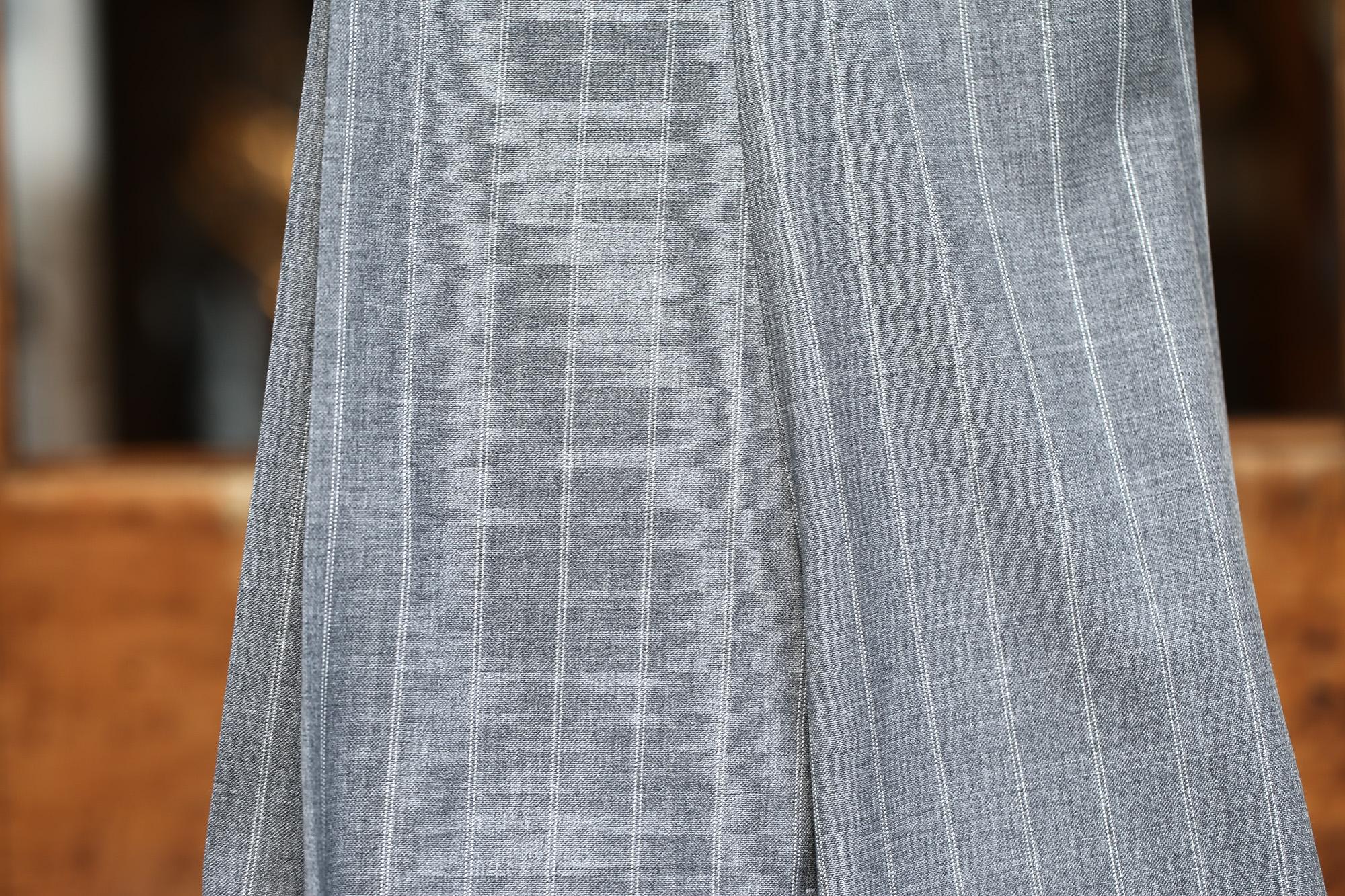 LARDINI (ラルディーニ) SARTORIA (サルトリア) トロピカル サマーウール 段返り3B ダブルピンストライプ スーツ GRAY (グレー・1) 2018 春夏新作 lardini 愛知 名古屋 Alto e Diritto アルト エ デリット スーツ ジャケット