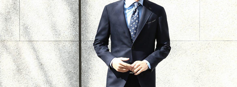 LARDINI (ラルディーニ) SARTORIA (サルトリア) トロピカル サマーウール 段返り3B サマー スーツ NAVY (ネイビー・5) Made in italy (イタリア製) 2018 春夏新作のイメージ