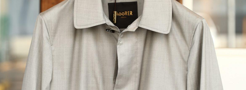 MOORER (ムーレー) VITTOR-GO (ヴィトール) ウールシルク ステンカラー スプリング コート BEIGE (ベージュ) Made in italy (イタリア製) 2018 春夏新作のイメージ