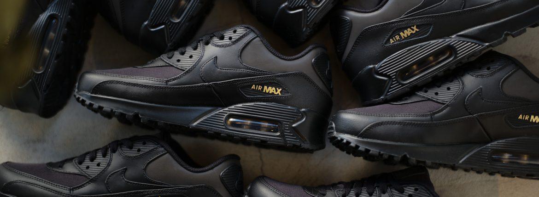 NIKE(ナイキ) AIR MAX 90 PREMIUM エアマックス90 プレミアム 700155 011 スニーカー BLACK/BLACK/METALLIC GOLD(ブラック×ゴールド) 2018 春夏新作のイメージ