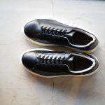PATRICK(パトリック) CRUISE LINE クルーズライン GENOVA (ジェノバ) Annonay Vocalou Calf Leather (アノネイ社 ボカルーカーフ レザー) ローカット レザー スニーカー BLACK (ブラック・BLK) MADE IN JAPAN(日本製) 【1st コレクション // 復刻モデル】【スペシャル限定モデル】【第2便ご予約受付中】【第3便ご予約受け付け中】のイメージ