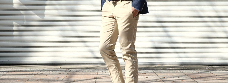 PT01 (ピーティーゼロウーノ) BUSINESS (ビジネス) SUPER SLIM FIT (スーパースリムフィット) Lux Cloth ストレッチ コットン スラックス パンツ BEIGE (ベージュ・0040)  2018 春夏新作のイメージ