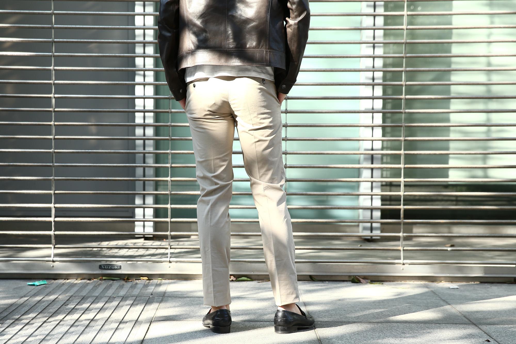 PT01 (ピーティーゼロウーノ) BUSINESS (ビジネス) SUPER SLIM FIT (スーパースリムフィット) Lux Cloth ストレッチ コットン スラックス パンツ GREGE (グレージュ・0106) 2018 春夏新作 pt01 チノ チノパン チノスラックス 愛知 名古屋 ZODIAC ゾディアック