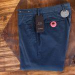 PT01 (ピーティーゼロウーノ) BUSINESS (ビジネス) SUPER SLIM FIT (スーパースリムフィット) Lux Cloth ストレッチ コットン スラックスパンツ NAVY (ネイビー・0360) 2018 春夏新作のイメージ