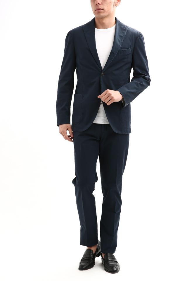 BOGLIOLI MILANO (ボリオリ ミラノ) K.JACKET (Kジャケット) ストレッチ コットン ツイル 3B スーツ NAVY (ネイビー・73) Made in italy (イタリア製) 2018 春夏新作