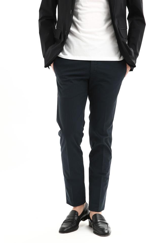 PT01 (ピーティーゼロウーノ) BUSINESS (ビジネス) SUPER SLIM FIT (スーパースリムフィット) Lux Cloth ストレッチ コットン スラックスパンツ NAVY (ネイビー・0360) 2018 春夏新作