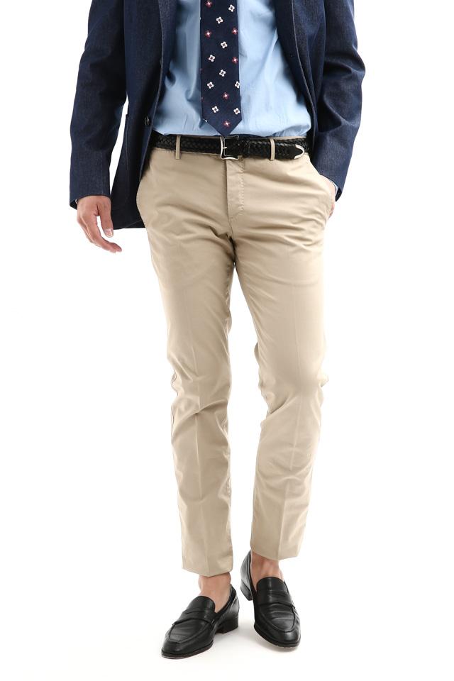 PT01 (ピーティーゼロウーノ) BUSINESS (ビジネス) SUPER SLIM FIT (スーパースリムフィット) Lux Cloth ストレッチ コットン スラックス パンツ BEIGE (ベージュ・0040)  2018 春夏新作
