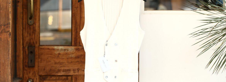 Settefili Cashmere (セッテフィーリ カシミア) Gilet (ニットダブルベスト) コットン ニット ジレ WHITE (ホワイト・MO01) made in italy (イタリア製) 2018 春夏新作のイメージ