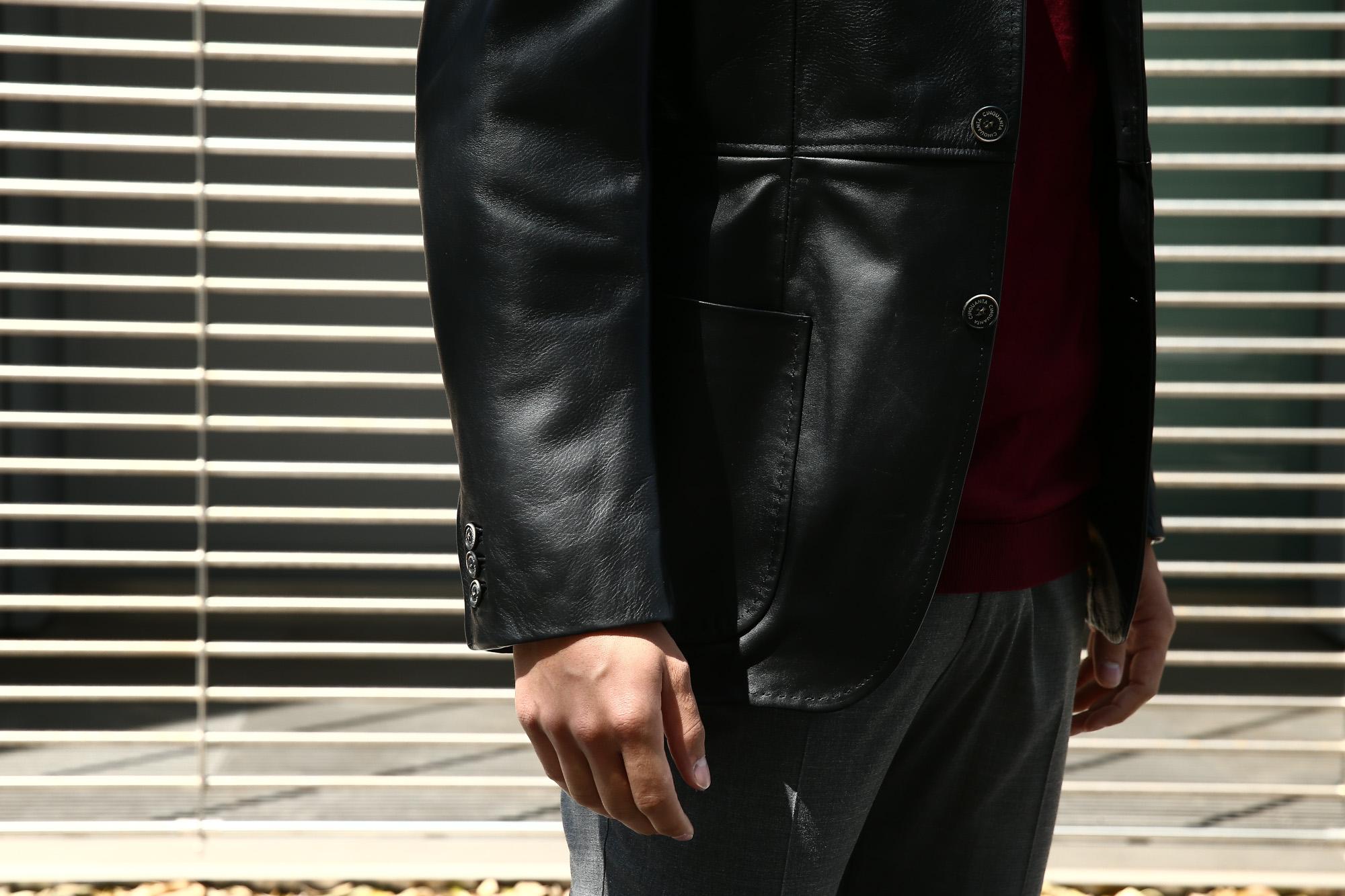 CINQUANTA (チンクアンタ) H613 SINGLE TAILORED JACKET CAVALLO (シングル テーラード ジャケット) ホースレザー ジャケット BLACK (ブラック・999) Made in italy (イタリア製) 2018 秋冬 【ご予約開始します】 cinquanta チンクアンタ レザージャケット ジャケット 愛知 名古屋 ZODIAC ゾディアック