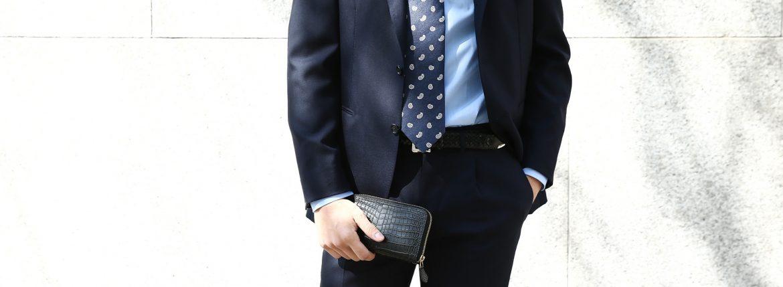 Cisei × 山本製鞄 (シセイ × 山本製鞄) Crocodile Long Wallet (クロコダイル ロング ウォレット) Nile Crocodile Leather (ワニ革) ナイル クロコダイル ウォレット 長財布 BLACK(ブラック),NAVY(ネイビー),BROWN(ブラウン) Made in Japan (日本製) cisei yamamotoseiho トートバック クロコ 愛知 名古屋 ZODIAC ゾディアック
