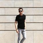 Cruciani (クルチアーニ) Cotton Jersey Crew Neck T-shirt (コットン ジャージー クルーネック Tシャツ) クルーネック Tシャツ NERO (ブラック)  made in italy (イタリア製) 2018 春夏新作のイメージ