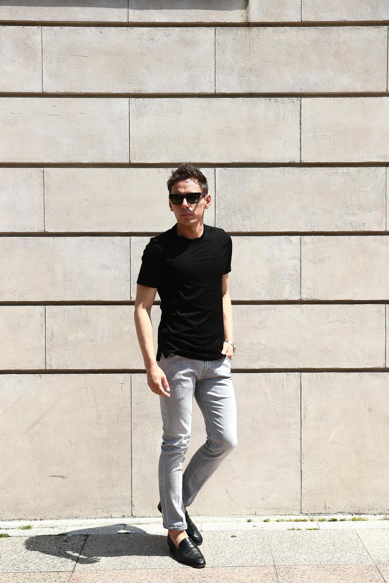 クルーネック /(ホワイト/) WHITE クルチアーニ made in italy Tシャツ /(Cruciani/) /(イタリア製/) Cotton Jersey Crew Neck T-shirt /(コットン ジャージー クルーネック Tシャツ/)