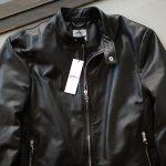 EMMETI (エンメティ) ANDREA (アンドレア) Lambskin Nappa Leather ラムナッパレザー 中綿入り シングル ライダース ジャケット NERO (ブラック・190/1) Made in italy (イタリア製) 2018 秋冬 【ご予約開始します】のイメージ