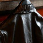 EMMETI (エンメティ) JAXON PITONE (ジャクソン ピトーネ) Lambskin Nappa Leather × Pitone Leather ラムナッパレザー × パイソンレザー ジャケット NERO (ブラック・190/1) Made in italy (イタリア製) 2018 秋冬のイメージ