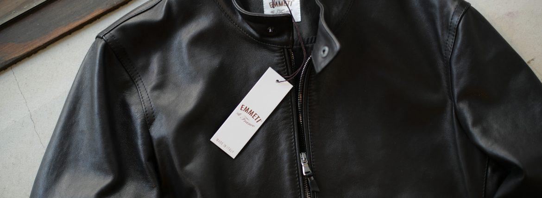 EMMETI(エンメティ) JURI(ユリ) Lambskin nappa シングルライダース レザージャケット NERO (ブラック) made in italy (イタリア製) 2018 秋冬 【第2便ご予約開始します】のイメージ