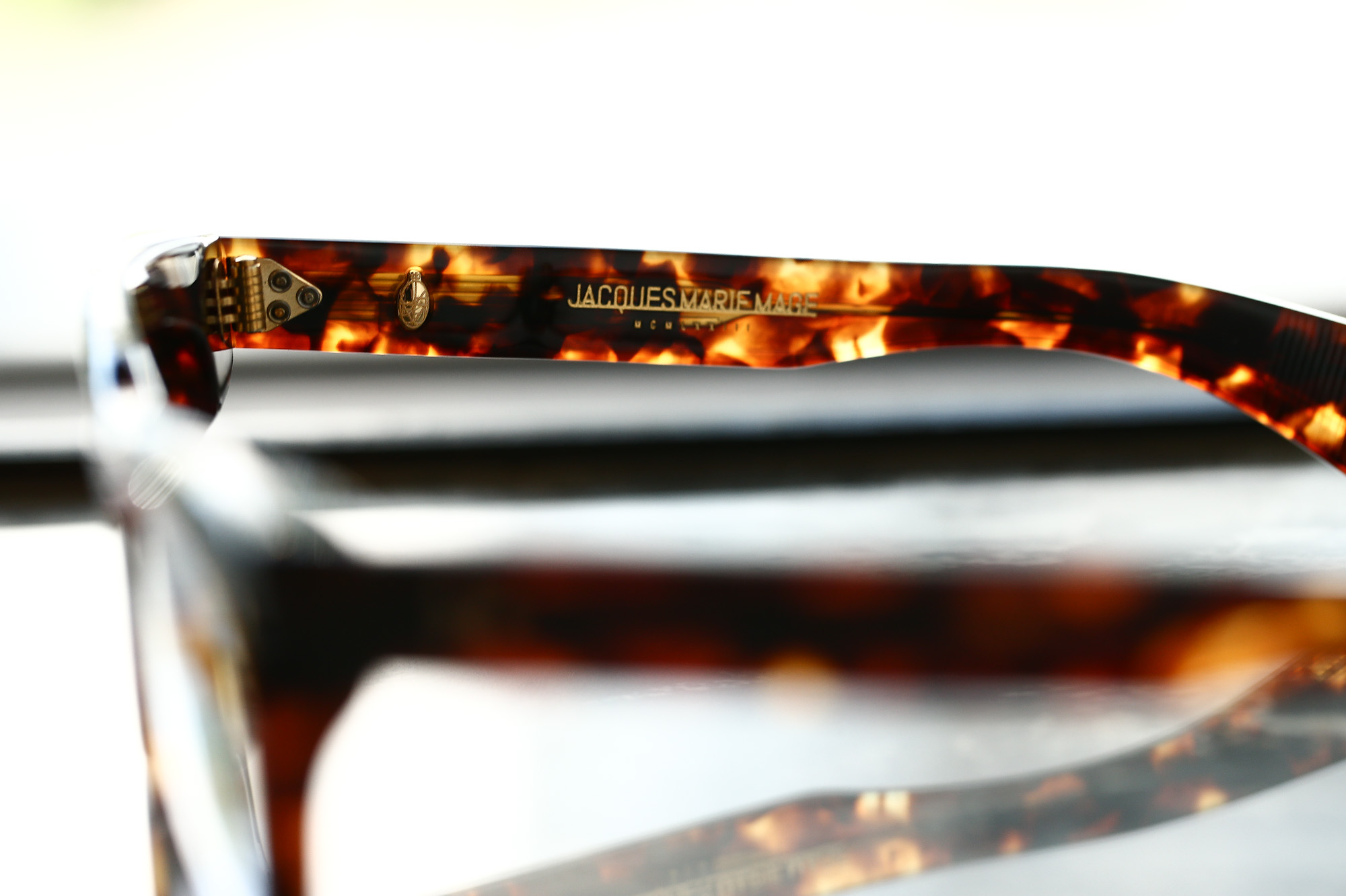 JACQUESMARIEMAGE (ジャックマリーマージュ) DEALAN RX (ディランRX) Bob Dylan (ボブ・ディラン) 18K GOLD ゴールドパーツ ウェリントン型 アイウェア サングラス HAVANA (ハバナ) HANDCRAFTED IN JAPAN(日本製) 2018 春夏新作 jacquesmariemage 愛知 名古屋 Alto e Diritto アルト エ デリット