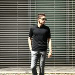 JOHN SMEDLEY (ジョンスメドレー) IMPERIAL KASHMIR (カシミアシリーズ) HADDON (ハードン) CASHMERE × SEA ISLAND COTTON (カシミア × シーアイランドコットン) ショートスリーブ コットンカシミヤニット ポロシャツ BLACK (ブラック) Made in England (イギリス製) 2018 春夏新作のイメージ
