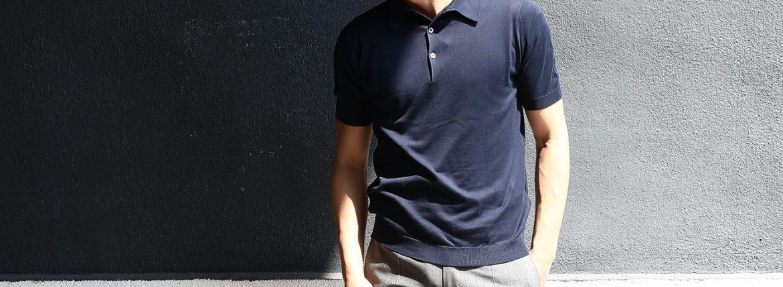 JOHN SMEDLEY (ジョンスメドレー) S3798 Polo Shirt SEA ISLAND COTTON (シーアイランドコットン) ポロシャツ NAVY (ネイビー) Made in England (イギリス製) 2018 春夏新作のイメージ