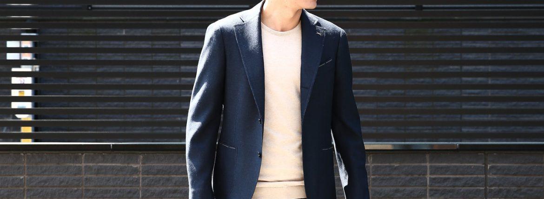 LARDINI (ラルディーニ) SARTORIA (サルトリア) ウールシルク ホップサック 段返り3B ジャケット NAVY (ネイビー・851) Made in italy (イタリア製) 2018 春夏新作 lardini ジャケット 愛知 名古屋 ZODIAC ゾディアック