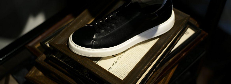 PATRICK(パトリック) CRUISE LINE クルーズライン GENOVA (ジェノバ) Annonay Vocalou Calf Leather (アノネイ社 ボカルーカーフ レザー) ローカット レザー スニーカー BLACK (ブラック・BLK) MADE IN JAPAN(日本製) 【1st コレクション // 復刻モデル】【スペシャル限定モデル】【第2便ご予約受付中】【第3便ご予約受付中】【第4便ご予約受付開始】のイメージ