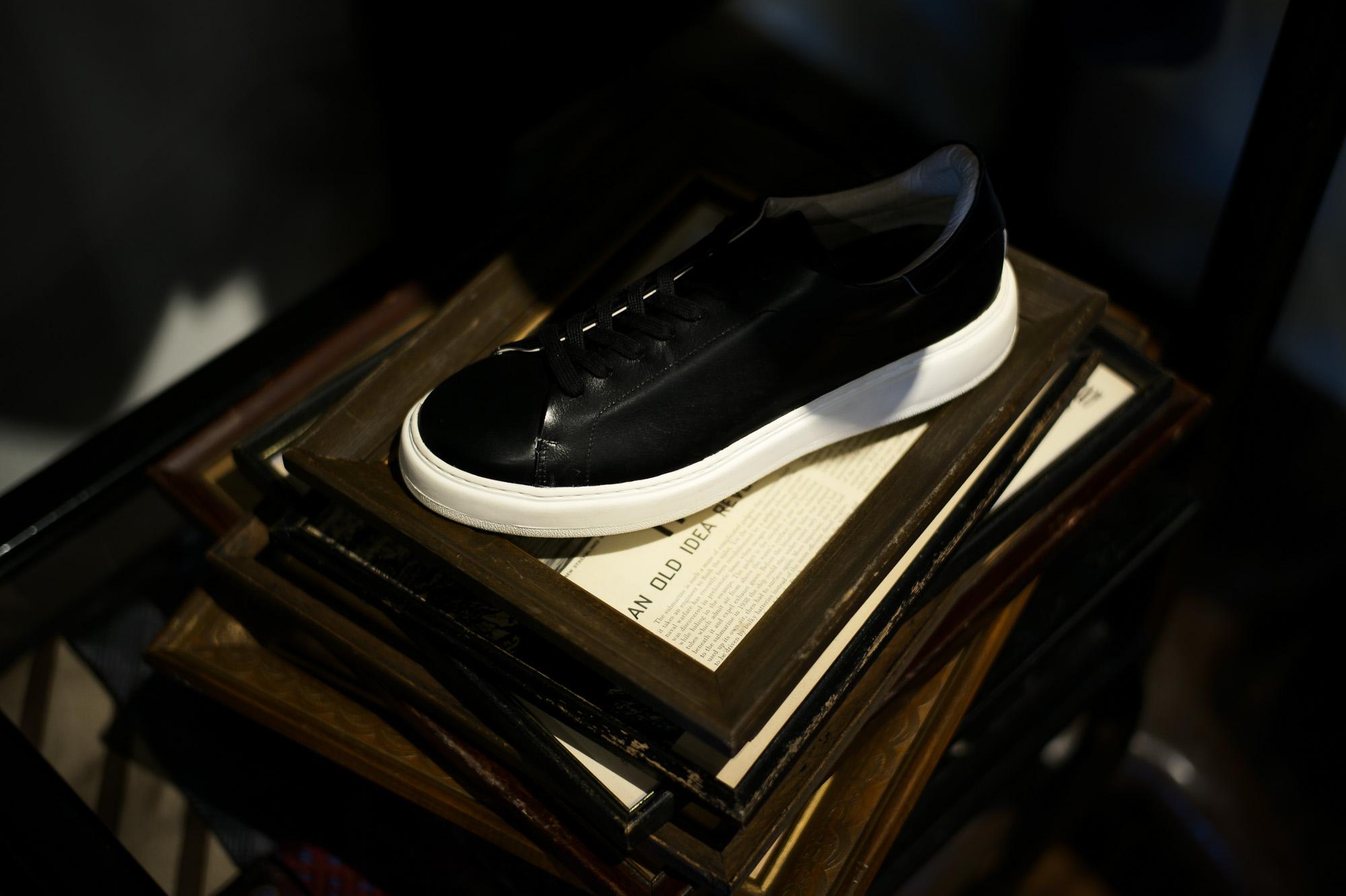 PATRICK(パトリック) CRUISE LINE クルーズライン GENOVA (ジェノバ) Annonay Vocalou Calf Leather (アノネイ社 ボカルーカーフ レザー) ローカット レザー スニーカー BLACK (ブラック・BLK) MADE IN JAPAN(日本製) 【1st コレクション // 復刻モデル】【スペシャル限定モデル】【第2便ご予約受付中】【第3便ご予約受け付け中】patrick パトリック cruiseline クルーズライン 愛知 名古屋 ZODIAC ゾディアック 干場義雅 坪内浩