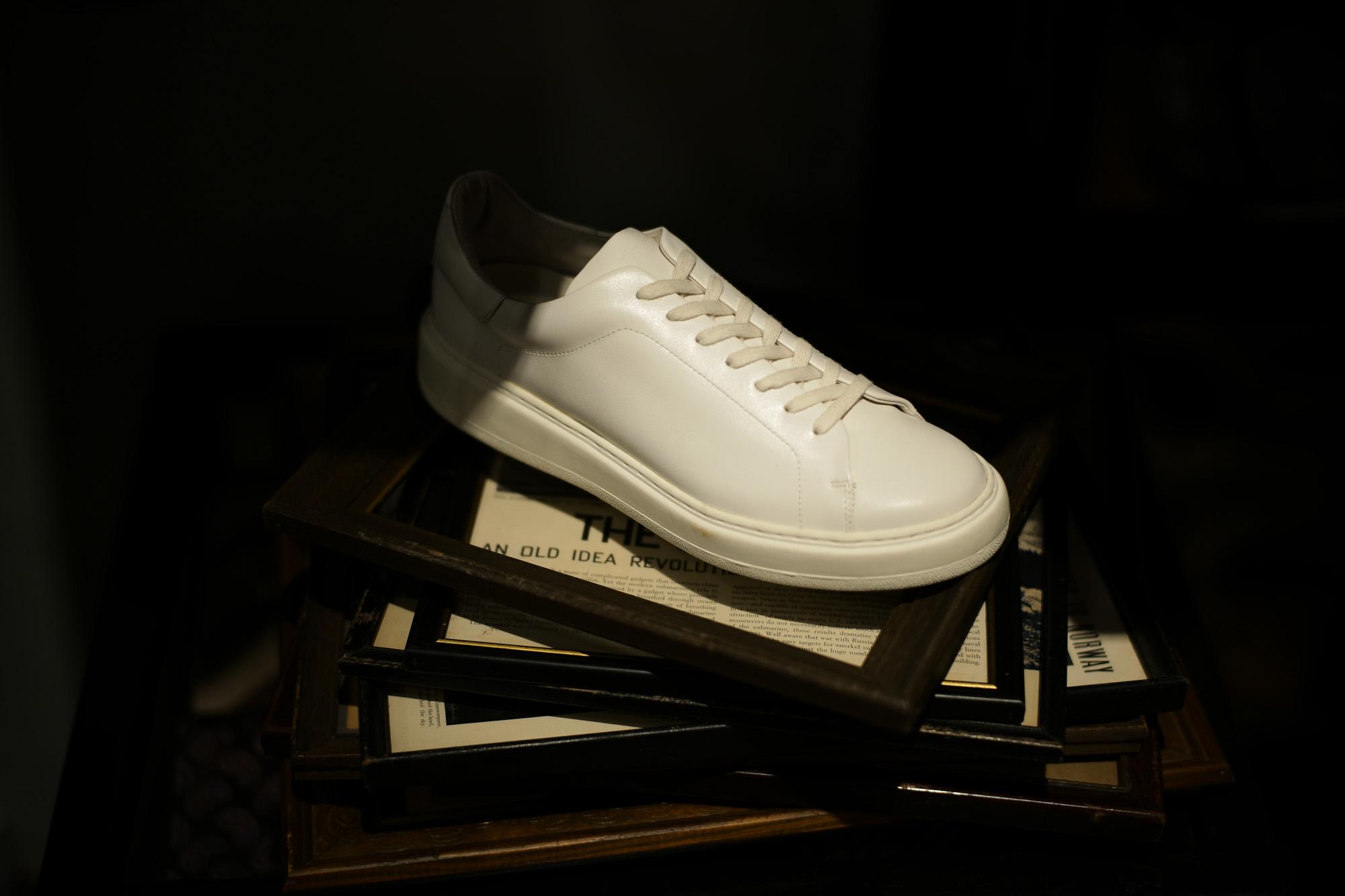 PATRICK(パトリック) CRUISE LINE クルーズライン GENOVA (ジェノバ) Annonay Vocalou Calf Leather (アノネイ社 ボカルーカーフ レザー) ローカット レザー スニーカー WHITE (ホワイト・WHT) MADE IN JAPAN(日本製) 【1st コレクション // 復刻モデル】【スペシャル限定モデル】【第2便ご予約受付中】【第3便ご予約受付中】【第4便ご予約受付開始】 patrick パトリック cruiseline クルーズライン 愛知 名古屋 Alto e Diritto アルト エ デリット 干場義雅 坪内浩