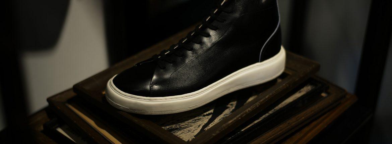 PATRICK(パトリック) CRUISE LINE クルーズライン GENOVA-HI (ジェノバ ハイ) Annonay Vocalou Calf Leather (アノネイ社 ボカルーカーフ レザー) ハイカット レザー スニーカー BLACK (ブラック・BLK) MADE IN JAPAN(日本製) 【1st コレクション // 復刻モデル】【スペシャル限定モデル】【第1便ご予約受付中】のイメージ