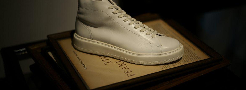 PATRICK(パトリック) CRUISE LINE クルーズライン GENOVA-HI (ジェノバ ハイ) Annonay Vocalou Calf Leather (アノネイ社 ボカルーカーフ レザー) ハイカット レザー スニーカー WHITE (ホワイト・WHT) MADE IN JAPAN(日本製) 【1st コレクション // 復刻モデル】【スペシャル限定モデル】【第1便ご予約開始します】のイメージ