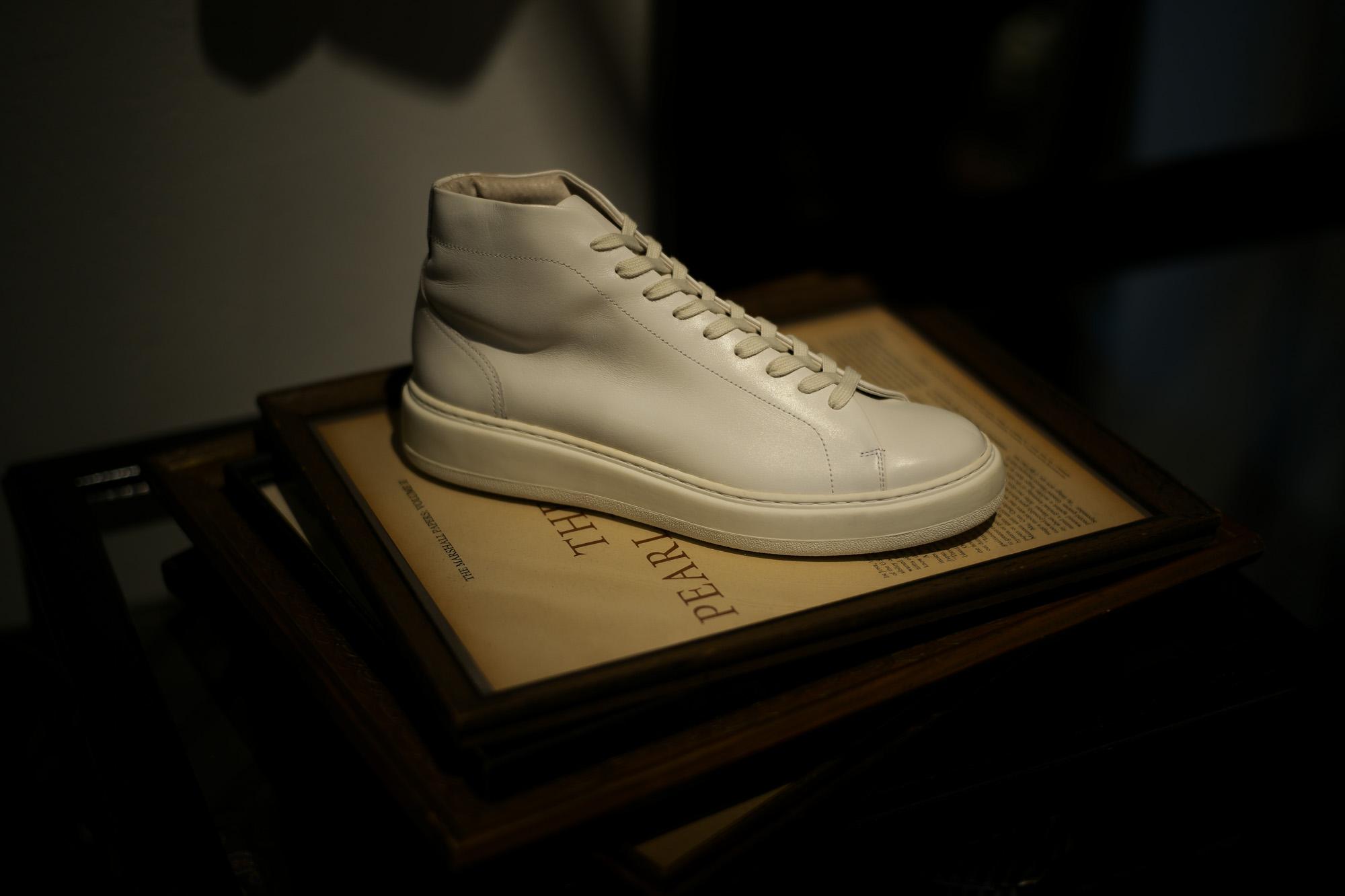 PATRICK(パトリック) CRUISE LINE クルーズライン GENOVA-HI (ジェノバ ハイ) Annonay Vocalou Calf Leather (アノネイ社 ボカルーカーフ レザー) ハイカット レザー スニーカー WHITE (ホワイト・WHT) MADE IN JAPAN(日本製) 【1st コレクション // 復刻モデル】【スペシャル限定モデル】【第1便ご予約開始します】 patrick パトリック cruiseline クルーズライン 愛知 名古屋 ZODIAC ゾディアック 干場義雅 坪内浩