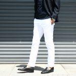 PT01 (ピーティーゼロウーノ) BUSINESS (ビジネス) SUPER SLIM FIT (スーパースリムフィット) Lux Cloth ストレッチ コットン スラックス パンツ WHITE (ホワイト・0010) 2018 春夏新作のイメージ