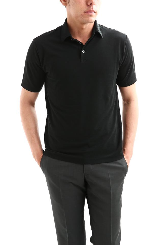 ZANONE (ザノーネ) Polo Shirt ice cotton アイスコットン ポロシャツ BLACK (ブラック・Z0015) made in italy (イタリア製) 2018 春夏新作
