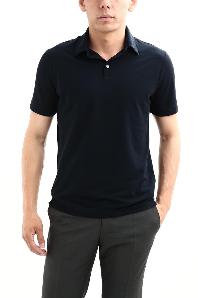 ZANONE (ザノーネ) Polo Shirt ice cotton アイスコットン ポロシャツ NAVY (ネイビー・Z0542) made in italy (イタリア製) 2018 春夏新作