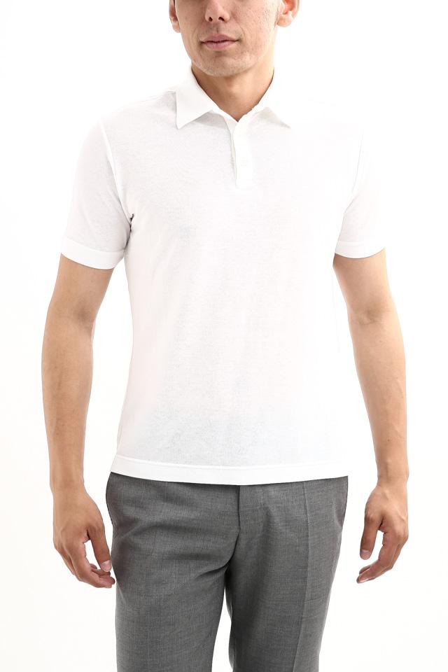 ZANONE (ザノーネ) Polo Shirt ice cotton アイスコットン ポロシャツ WHITE (ホワイト・Z0001) made in italy (イタリア製) 2018 春夏新作