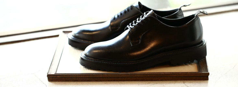 WH (ダブルエイチ) WH-0001(WHS-0001) Plane Toe Shoes (干場氏 スペシャル モデル) Cruise Last (クルーズラスト) ANNONAY Vocalou Calf Leather プレーントゥシューズ BLACK (ブラック) MADE IN JAPAN(日本製) 2018 春夏新作   【干場氏、坪内氏の直筆サイン入り】【ZODIAC限定 スペシャルアイテム】のイメージ