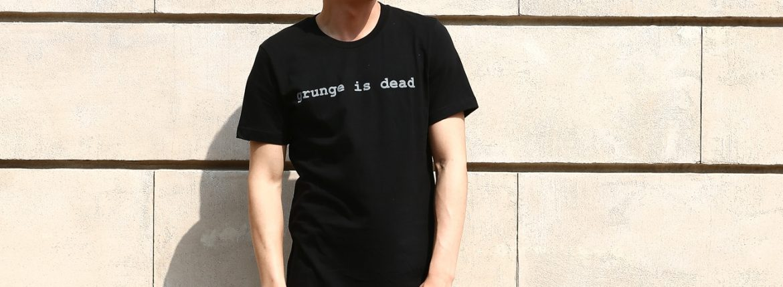 WORN FREE (ウォーンフリー) grunge is dead. Nirvana(ニルヴァーナ) Kurt Cobain(カート・コバーン) 1992 NEW YORK プリントTシャツ バンドTシャツ  ロックTシャツ BLACK(ブラック) MADE IN USA (アメリカ製) 2018春夏新作のイメージ