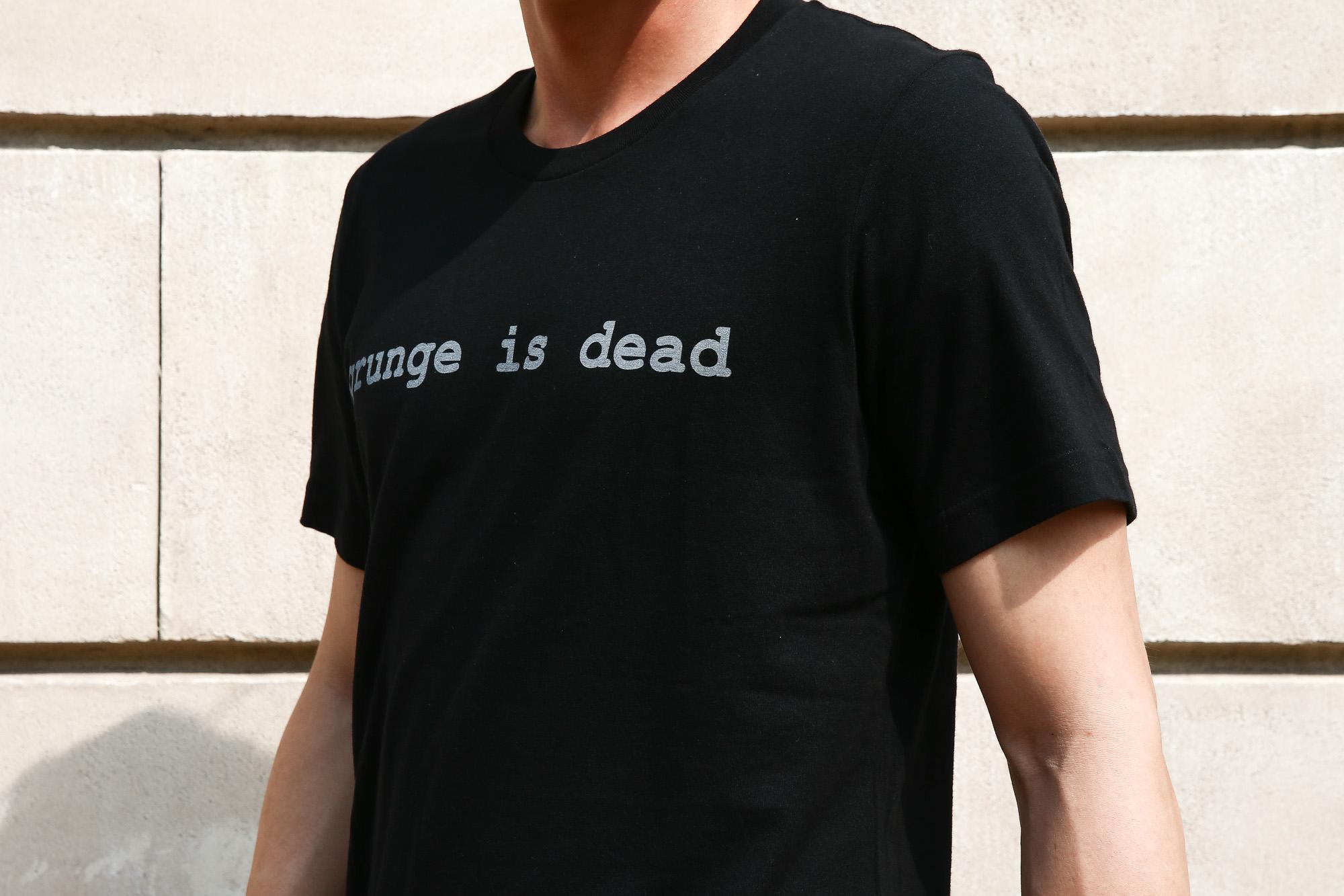 WORN FREE (ウォーンフリー) grunge is dead. Nirvana(ニルヴァーナ) Kurt Cobain(カート・コバーン) 1992 NEW YORK プリントTシャツ バンドTシャツ  ロックTシャツ BLACK(ブラック) MADE IN USA (アメリカ製) 2018春夏新作 wornfree ウォーンフリー 愛知 名古屋 Alto e Diritto アルト エ デリット