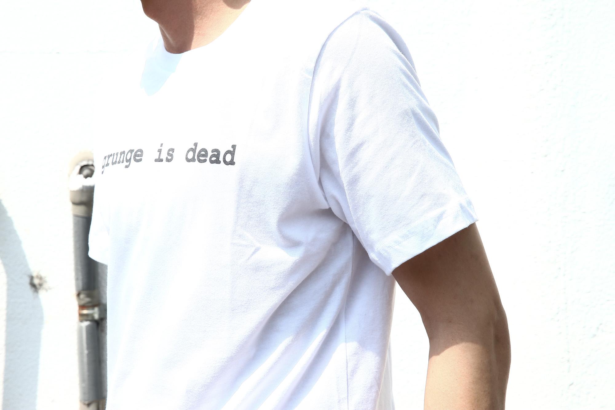 WORN FREE (ウォーンフリー) grunge is dead. Nirvana(ニルヴァーナ) Kurt Cobain(カート・コバーン) 1992 NEW YORK プリントTシャツ バンドTシャツ  ロックTシャツ WHITE(ホワイト) MADE IN USA (アメリカ製) 2018春夏新作 wornfree ウォーンフリー 愛知 名古屋 ZODIAC ゾディアック