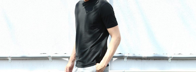 ZANONE (ザノーネ) Crew Neck T-shirt (クルーネックTシャツ) ice cotton アイスコットン Tシャツ BLACK (ブラック・Z0015) MADE IN ITALY(イタリア製) 2018 春夏新作のイメージ