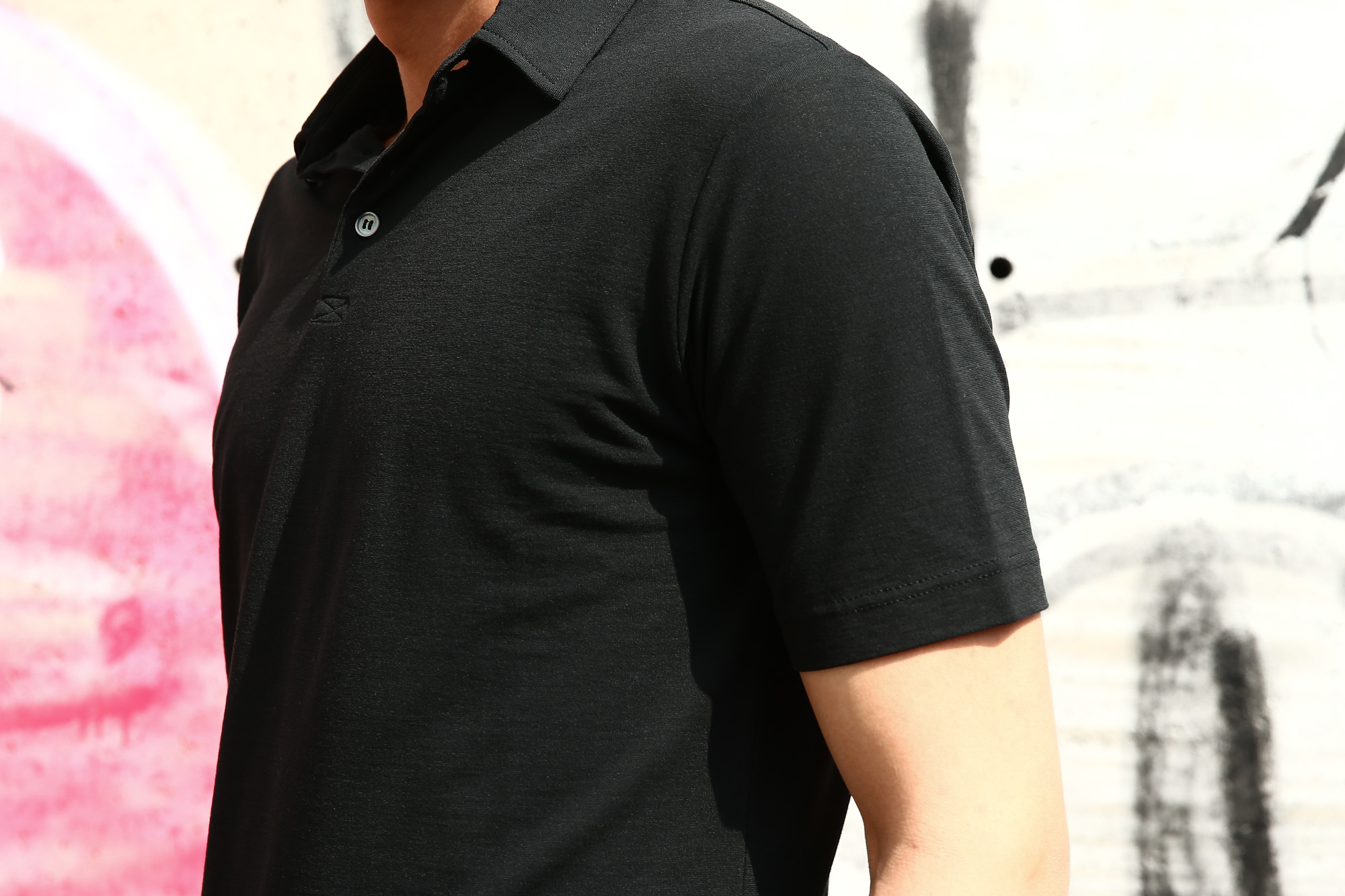 ZANONE (ザノーネ) Polo Shirt ice cotton アイスコットン ポロシャツ BLACK (ブラック・Z0015) made in italy (イタリア製) 2018 春夏新作 愛知 名古屋 ZODIAC ゾディアック ポロ ニットポロ
