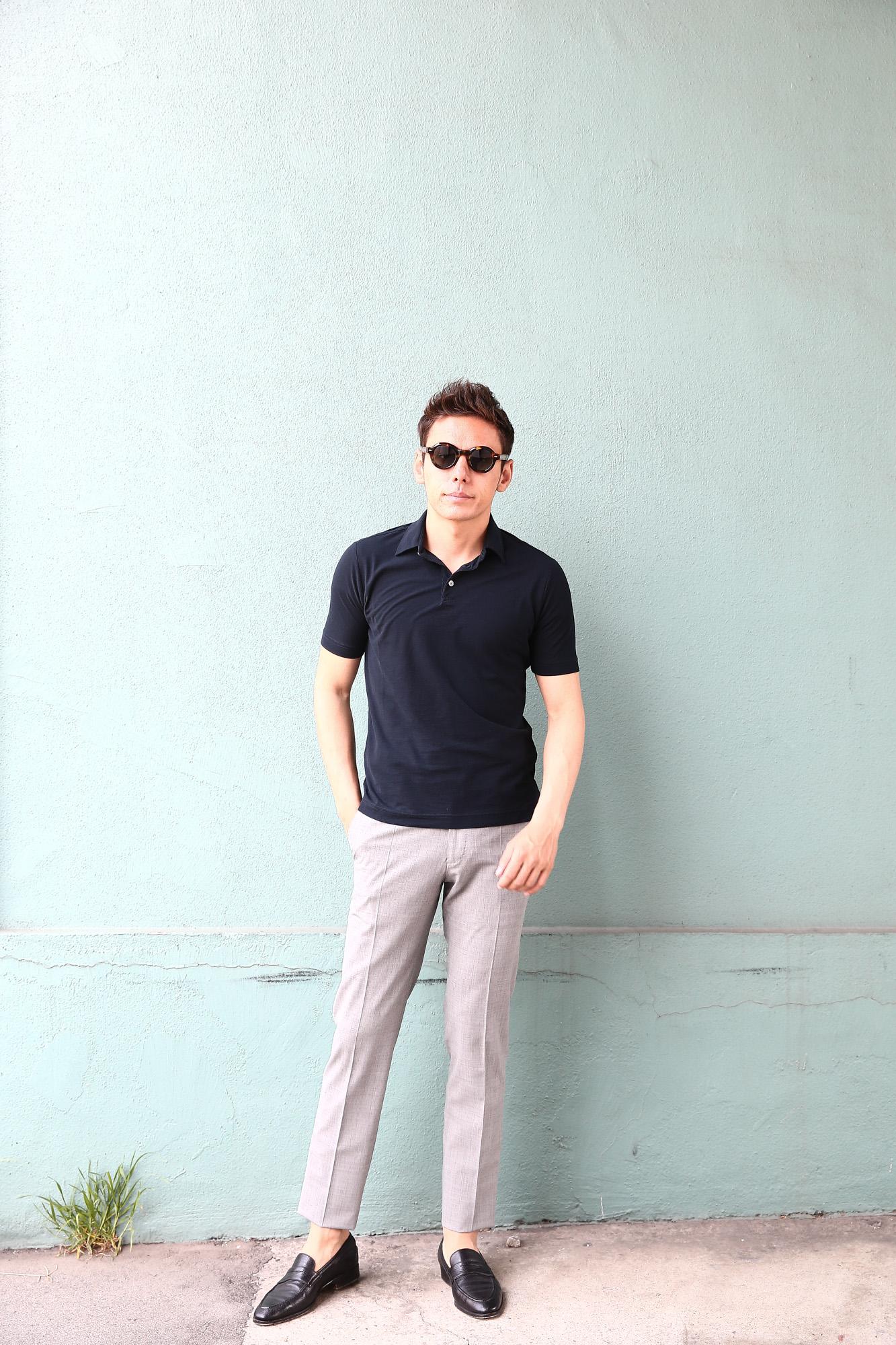 ZANONE (ザノーネ) Polo Shirt ice cotton アイスコットン ポロシャツ NAVY (ネイビー・Z0542) made in italy (イタリア製) 2018 春夏新作 愛知 名古屋 ZODIAC ゾディアック ポロ ニットポロ